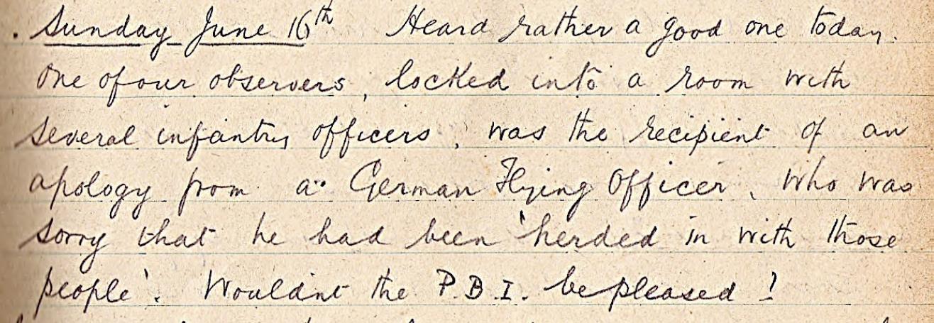 RA Burnard diary: June 16, 1918