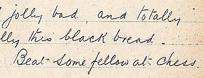 "RAB diary Monday July 8, 1918, Graudenz: ""Feel jolly bad"""